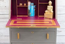 "Hot Pink Interiors - Furniture Portfolio / Hot Pink offers Interior Decorating services including furniture restoration, upholstery and soft finishing alterations.   Furniture restoration - Hot Pink is available for commissions to re-love your old treasures whether it be a suitcase or a dresser we'll turn your dream into a reality.  ""Where we love is home - home that our feet may leave, but not our hearts."" - Oliver Wendell Holmes, Sr."
