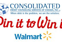 Pin It To Win It / Pin your favorite Savings tip from one of our boards with the hashtag #DebtFree2Day to enter to win a $50 g/c from Walmart!