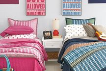 Boy/Girl Shared Room / Ideas for my son & daughter to live together peacefully... and with adorable style! Home decor
