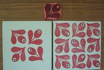 stamps, linocut and stencils
