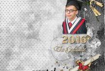Graduation Day Digital Scrapbooking Collection by Kathryn Estry