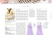 Horgolt ruhák,  dresses crohet / horgolt minták
