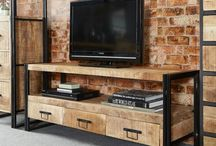 Tv Stand Metal Wood