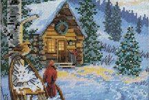 вышивка рождество и новый год