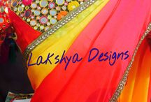 Shades / 4 shaded saree with mirror work blouse!!!