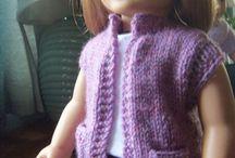 Robynne's Crafts / Dolls knitted Vest