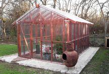 Green house shade house storage sheds
