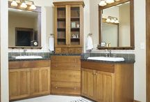 Bathroom wall cabinets / Bathroom wall cabinets, The limited space in the bathrooms made using vertical space, i.e. the walls, for storage and placing bathroom wall cabinets a crucial matter. Bathroom wall cabinets are often found above the sinks to hold toiletries and other hygiene products. Since the bathroom is prone to high humidity levels, moisture can accumulate inside the bathroom wall cabinets and damage them if they are not made of proper material.