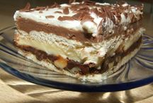 řezy, koláče, dezerty