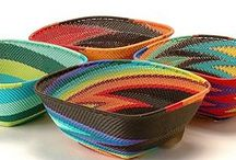 Baskets Daraja Imports / Beautiful colorful baskets from Daraja Imports