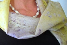 BAM! Member Susanne Guirakhoo of Enchanted Hue / Shibori and handpainted silk scarves and home accessories.