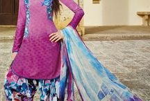 Patiala Style Suits / Huge Collection of Patiala Suits with big discounts at IndiaRush..!!!!