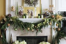 Christmas Fireplace/Hearth