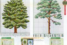 cross stitch - stromy