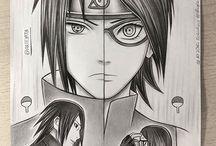 Sakura, Sarada und Sasuke Uchiha <3