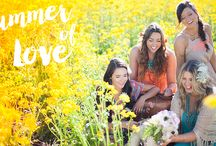 S U M M E R  OF  L O V E / Our 2015 Summer Lookbook Is All About Easy Fun Summer Looks, Drenched In Color With A Hint Of Nature.