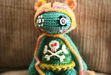 crocheted dolls animals / by Celia Thorsson Burke