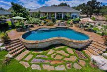 Backyard pool ideas / by Ken Barr