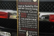 Fire Dept. Signs / by The Rustic Sign