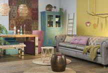 Stijl Studio: Bohemian / vtwonen Stijl Studio 'Bohemian' is opvallend anders. Alles in deze Ibiza-sfeer heeft een eigen verhaal. De warme houtsoorten, vintage patronen en mix aan stijlen maakt dat je het gevoel hebt er al jaren te wonen! / by Eijerkamp - Wooninspiratie, tips & trends