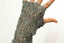 Crocheted gloves & wrist warmers