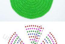 círculo de crochê
