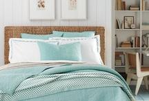 aqua and white room scheme