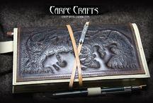 CARPECRAFTS - LEATHER : AGENDA PERSONALIZADA / Diseño de artículos en piel realizados 100% de forma artesanal. Diseño personalizado, único!