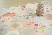hexie love / hexagons and other epp projects / by Erin @ Why Not Sew?