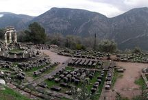 Ancient Delphi Greece  / Photos of the Ancient Delphi archaeological Site in Greece