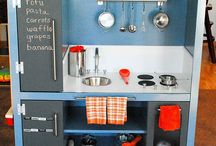 Play kitchen ideas / by Hillary Hagle