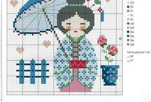 Broderie - geisha