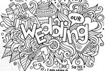 Wedding Kids Colouring Book Pages