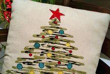 cojines navideños pintados