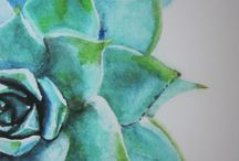 Inspiration | Watercolor, Succulents