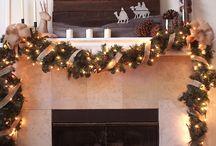 mantle decor christmas