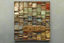 wood / fabric sculpture
