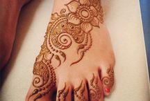 henna/mehndi on feet&legs
