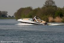 Photoshoot boot / Photoshoot van een testvaart van de Crownline 325 op de Maas i.o.v. Watersport Paradise