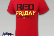 #REDFRIDAY Remember.Everyone.Deployed / Show your support for our troops by wearing red every Friday until they all come home. Here's a collection of our exclusive red shirts.