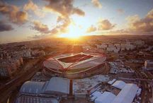 Football stadiums in Lisbon, Portugal - The European champion / Lisbon is a city of football, here you have the main stadiums! See more in our article: http://smartkittens.xyz/layoverportugal/the-tour-of-champions/
