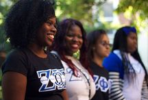 SISTERHOOD BONDING AND FELLOWSHIP EVENTS / This board reflects the spirit of sisterhood shared not only with the members of Zeta Phi Beta Sorority Incorporated but also with other people on campus and in their communities.
