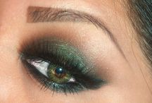 Make up & hair  / Green eyes