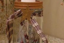 primitive country bathroom makeover / by Debbie Clark
