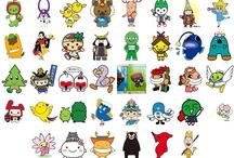 design - japanese logo & characters