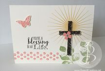 Easter Cards & Decor Ideas / Handmade / handstamped card and decor ideas and instructions made by Lisa Ann Bernard Queen B Creations Independent Stampin' Up! demonstrator