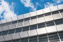 Facadepersienner / Fischer facadepersienner produceres i forskellig udformning og lamelbredde - altid i stabile løsninger.