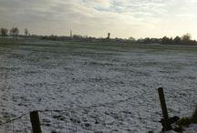 Ulft sneeuw Januari 2015 / sneeuw landschap bij de strang