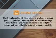 Voicemail greeting samples voicemailgreet on pinterest business voicemail greetings example httpvoicemailgreetingbusiness m4hsunfo