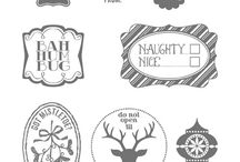 Stampin Up! Very Merry Tags